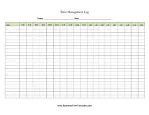 time management log template time management log template