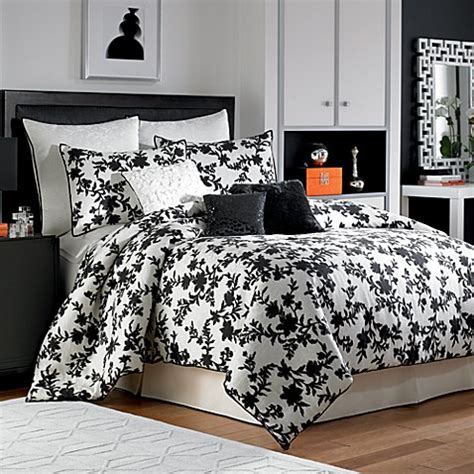 nicole miller bed sets nicole miller 174 silhouette comforter set bed bath beyond