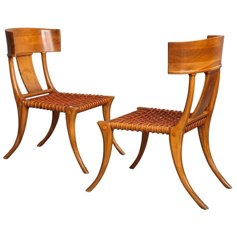 klismos chairs pair of t h robsjohn gibbings klismos chairs for sale at