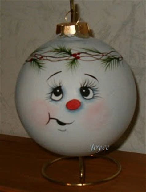 joyce s tole painting snowman ornaments snowman faces