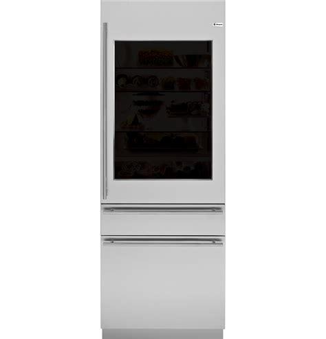 ge glass door refrigerator zik30gnhii monogram 30 quot integrated glass door