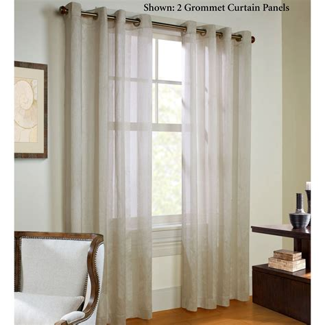 striped sheer curtain panels stellan parchment striped sheer grommet curtain panels