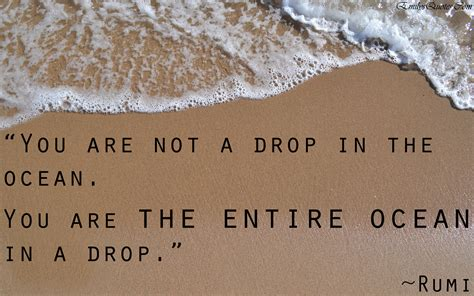 a drop in the you are not a drop in the ocean you are the entire ocean in a drop popular inspirational