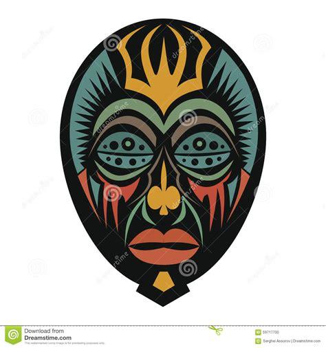 Masker Cultusia afrikaans masker op een witte achtergrond vector illustratie illustratie bestaande uit