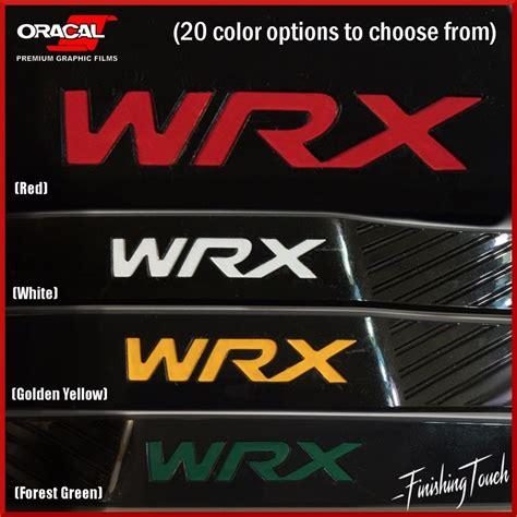 wrx subaru logo wrx vinyl overlays fender badge inlays subaru logo emblem