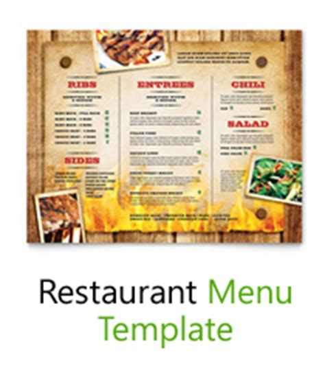 Free Menu Card Template Indesign by Free Menu Templates Blank Restaurant Sles For Word
