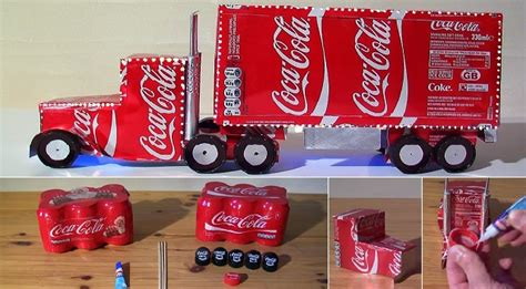 how to make coca cola truck christmas decoration video