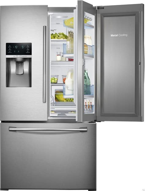 Contemporary Samsung Rf28hdedtsr 27 8 Cu Ft French Door Refrigerator With Glass Door For Homes