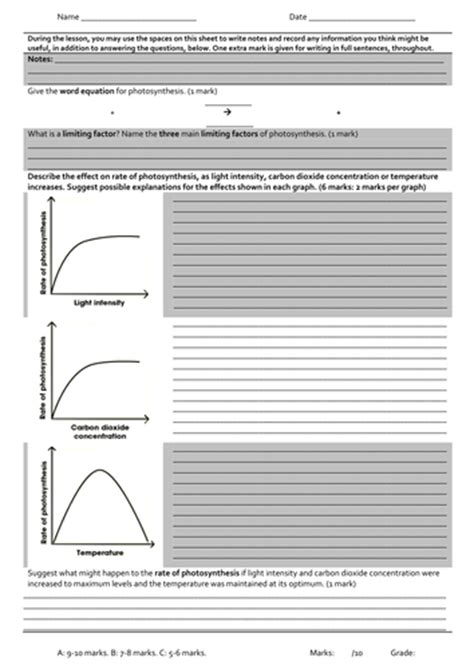 Limiting Factors Worksheet by Limiting Factors Of Photosynthesis Understanding Rate Of
