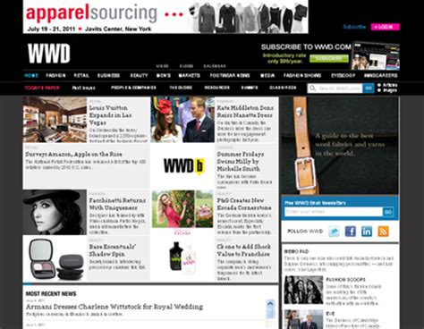 wwd beauty industry news 30 exles of magazine and newspaper styled websites