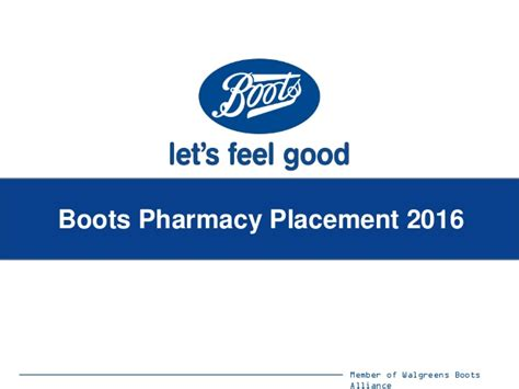 Alliance Mba Placements 2016 by Boots Pharmacy Placement 2016