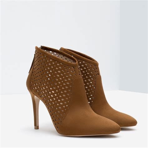 high heel work boots for brown high heel ankle boots
