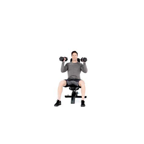 seated dumbell press seated dumbbell shoulder press proper form