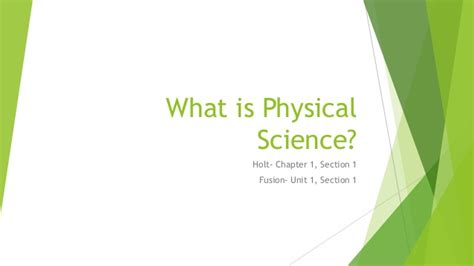 Section 1 1 What Is Earth Science by What Is Physical Science