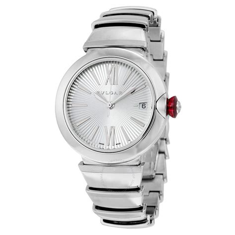 bvlgari lvcea automatic silver stainless steel
