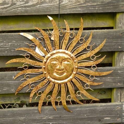 Lackieren In Der Sonne by Sonne Metall Braun Gold Wanddekoration Wandbild Gartendeko