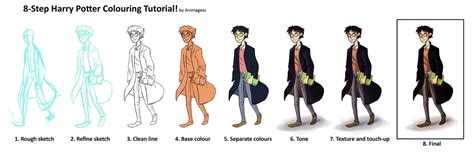 harry potter coloring book tutorial harry potter coloring tutorial by animagess on deviantart