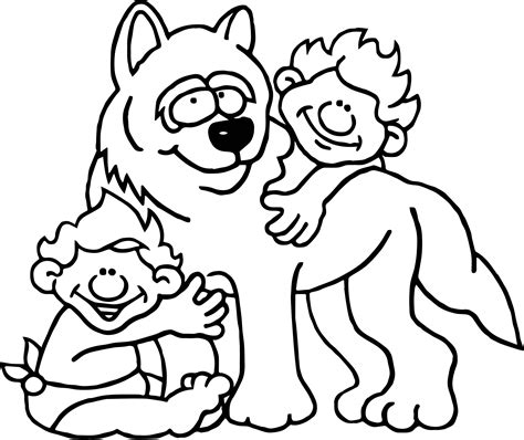Romulus And Remus Coloring Page romulus remus and child coloring page wecoloringpage