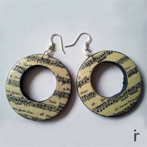 Decoupage Jewellery - 27 best images about diy decoupage earrings on