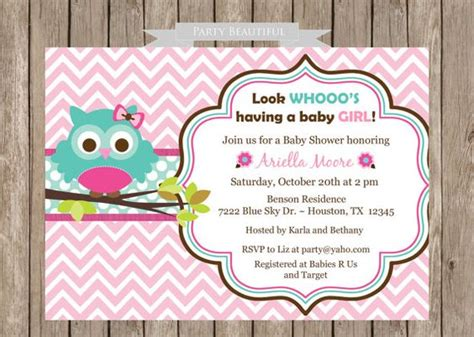 printable owl invitation baby showers babies and shower invitations on pinterest