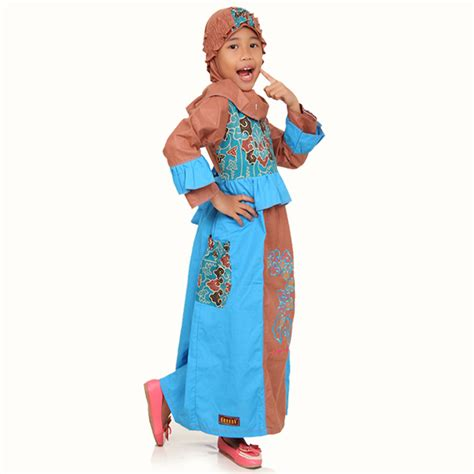 Baju Anak Muslim Kiddos Yuk Shalat detail produk baju anak muslimah megamendung biru toko