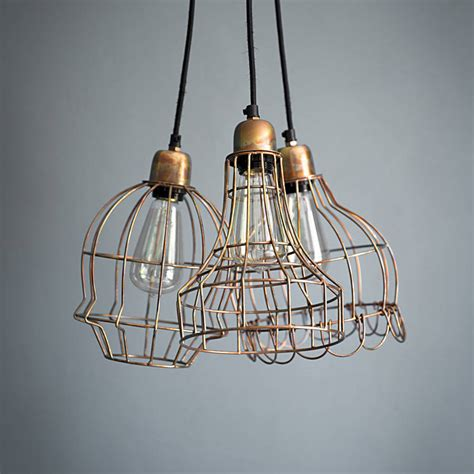 Cluster Pendant Light Arcadia Three Cluster Ceiling Light By Atkin And Thyme Notonthehighstreet