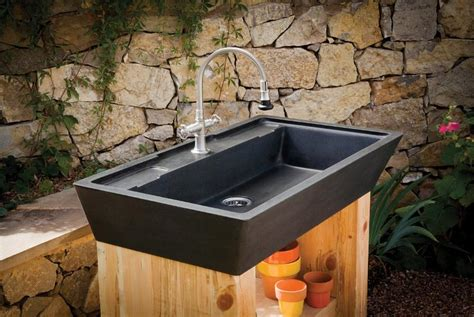 outdoor sink ideas introducing the newest stone forest designs plumbtile