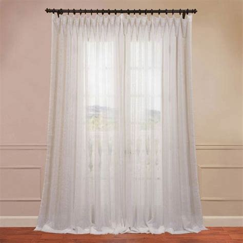 100 x 108 curtains signature double layered off white 100 x 108 inch sheer