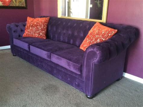 two purple couches purple sofa quot no way quot or quot yes please quot