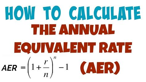 Credit Equivalent Amount Formula 017 How To Calculate The Annual Equivalent Rate Aer