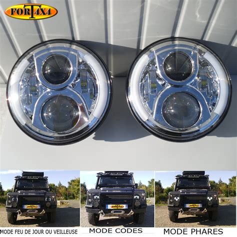 lada led 60w phares led jeep wrangler phares led defender phares led