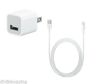 original apple usb power adapter charger 5w lightning cable charging iphone 7 ebay