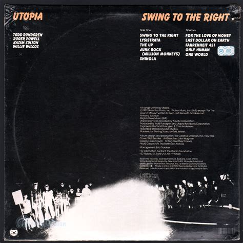 swing to the right swing to the right by utopia lp with recordvision ref