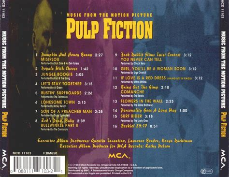 pulp fiction soundtrack pochettes de cd