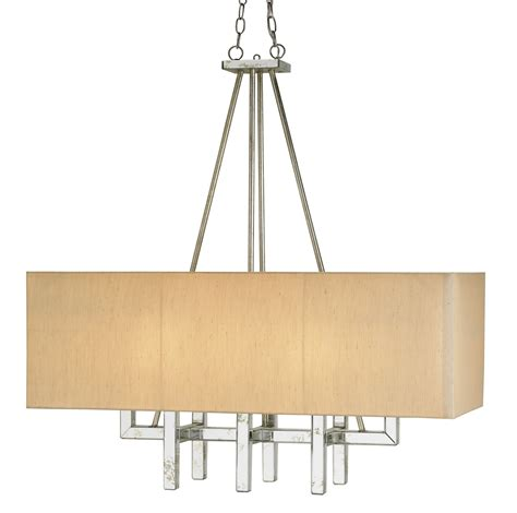 Currey And Company 9025 Eclipse Eight Light Rectangular Rectangular Chandelier