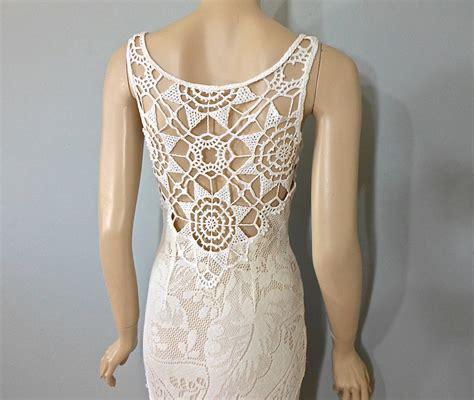 handmade hippie wedding dress crochet boho wedding by