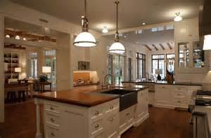 large kitchen layout ideas island with butcher block top transitional kitchen