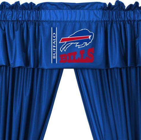 nfl curtains nfl buffalo bills 5 piece curtains and valance set