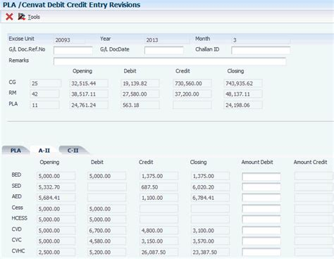excel format of excise pla register working with excise registers