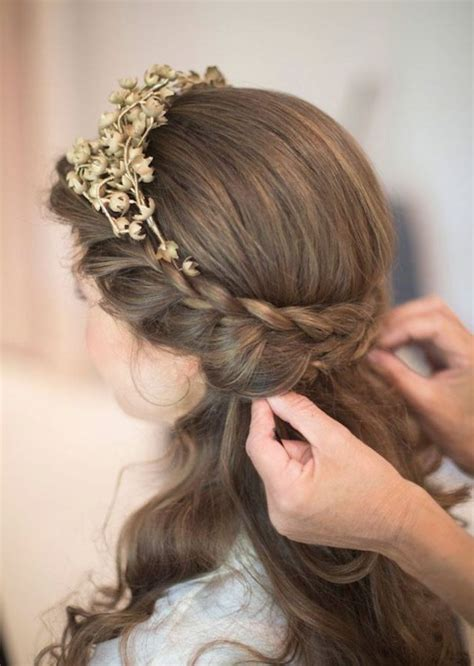 Wedding Hairstyles For Length Hair by Mekuteku Wedding Hairstyles For Medium Length Hair Half