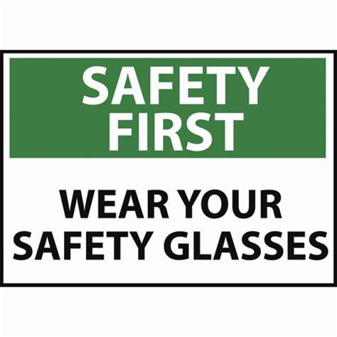 woodwork safety signs wear your safety glasses sign safety signs