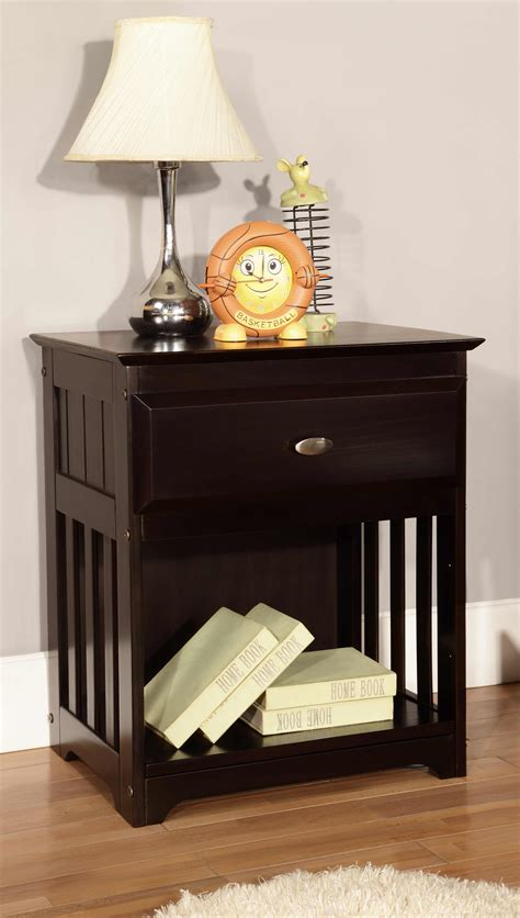 discovery world furniture espresso nightstand kfs stores