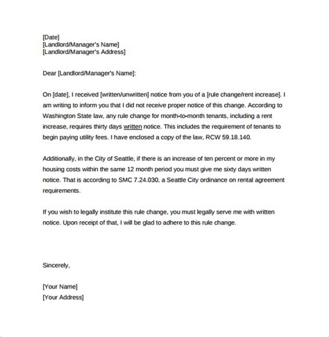 Rent Increase Letter Nevada Rent Increase Letter Template Best Business Template