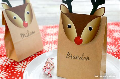 Reindeer Paper Bag Craft - 7 best images of printable crafts reindeer paper bags