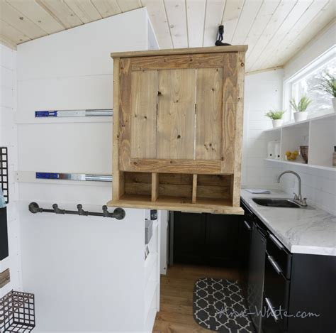 tiny house with slide out white slide out entry pantry cabinet for tiny house