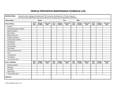 Preventive Maintenance Plan Template Beneficialholdings Info Pm Checklist Template