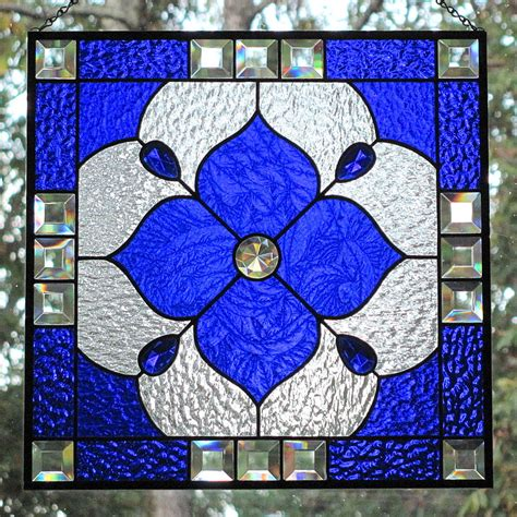 blue stained glass l stained glass designs geometric www imgkid com the