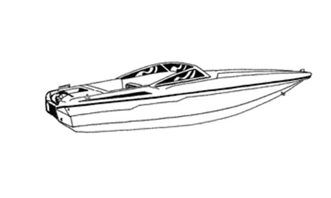 ski boat drawing boat covers to fit different styles of boats including v