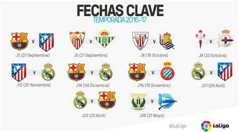 Calendario La Liga Santander Primera Divisi 243 N Gu 205 A Oficial Y 1 170 Jornada 19 22 Ago 2016