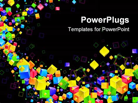 show templates for powerpoint colorful 3d bright abstract background vector